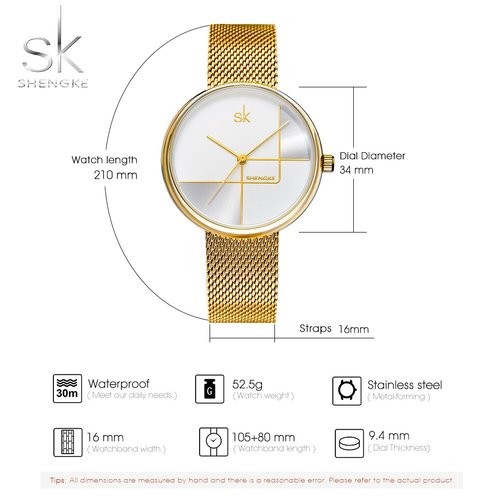 SYNOKE NEW Luxury Brand Wristwatch Women Quartz Clock Ladies Golden Silver Watch Metal Strap Grid Dial Relogio Feminino Watch enlarge