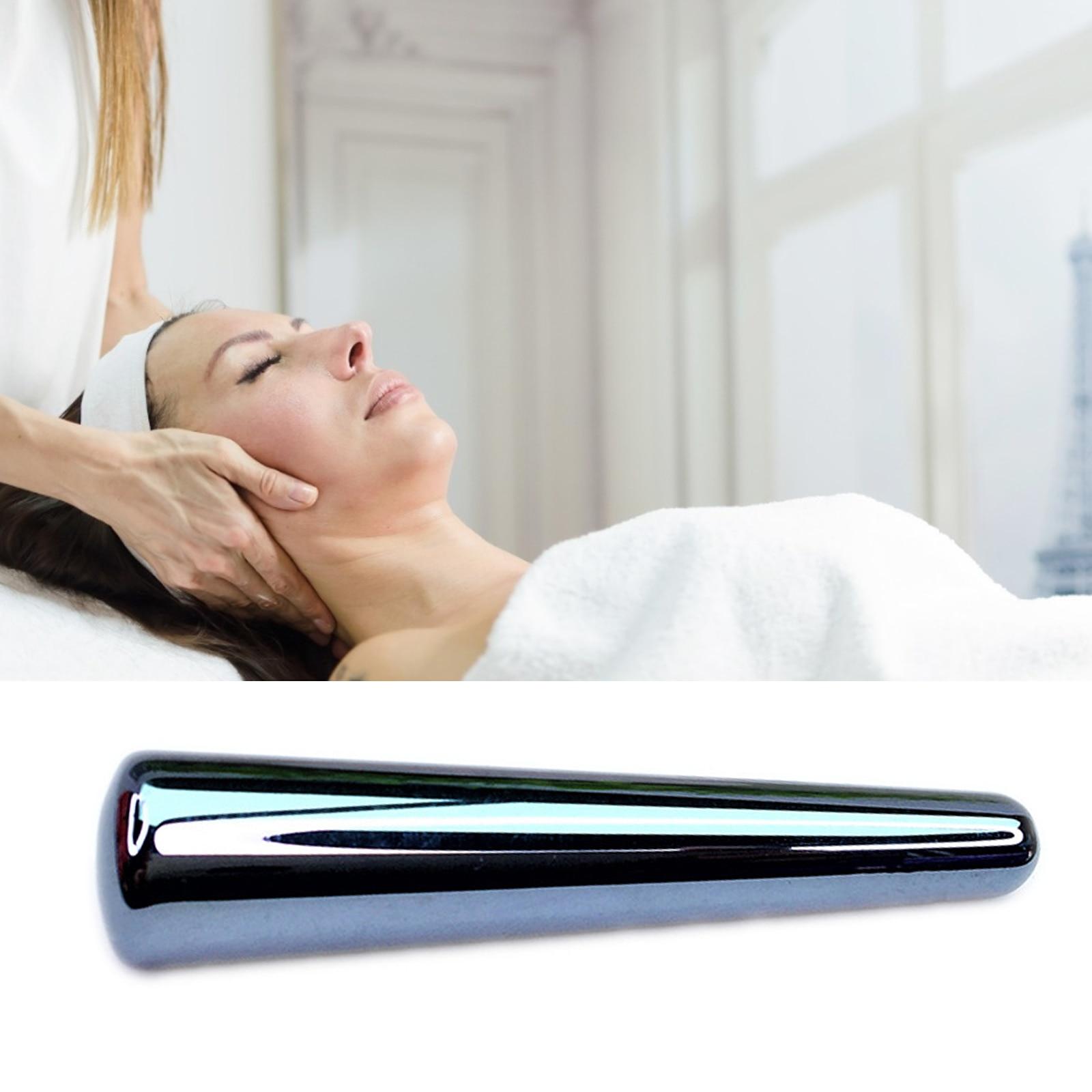 1Pcs Terahertz Energy Stone Massage Wand Face Body Acupuncture Point Massage Stick Physiotherapy Reflexology Beauty Gua Sha Tool