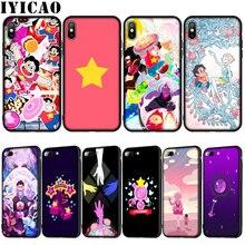 Мягкий силиконовый чехол IYICAO Steven Universe для iPhone XR X XS 11 Pro Max 10 6S 7 8 Plus 5 5S SE