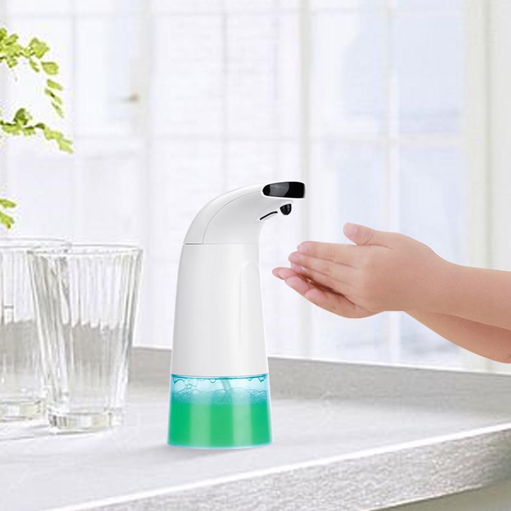 250mL Automatic Induction Soap Dispenser Bathroom Shower Kitchen School Hotel Soap Liquid Sensor Bottle Household Health Care