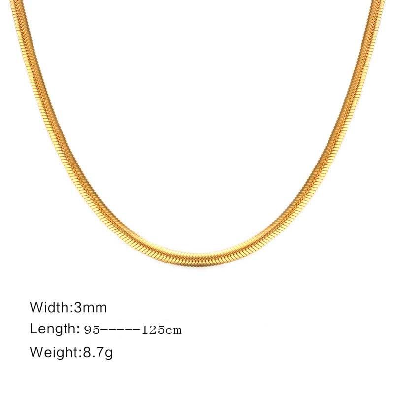 Fxm colar de aço inoxidável venda quente cor do ouro popular única mulher 3mm simples fundação colar amante presente jóias femininas