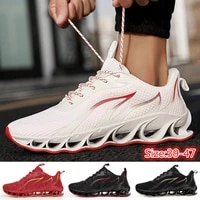 fashion mens casual running sport shoes cushion breathable athletic training shoes