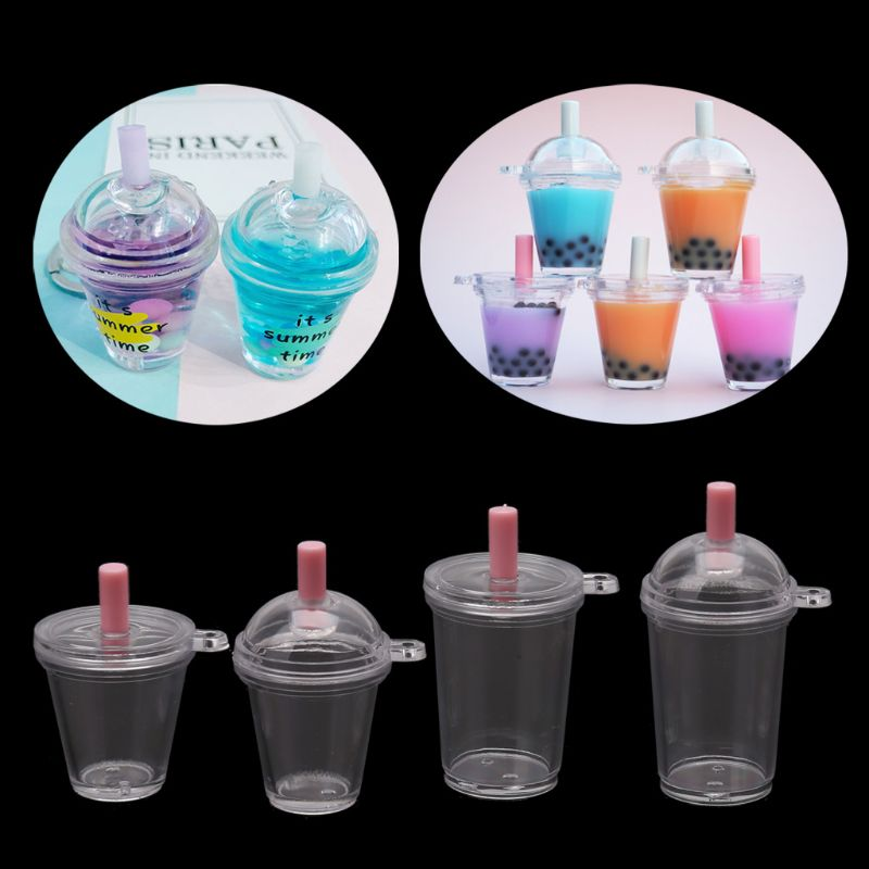 10Pc Coffee Cup Dollhouse Miniature Handmade Food Supply Keychain Jewelry Making