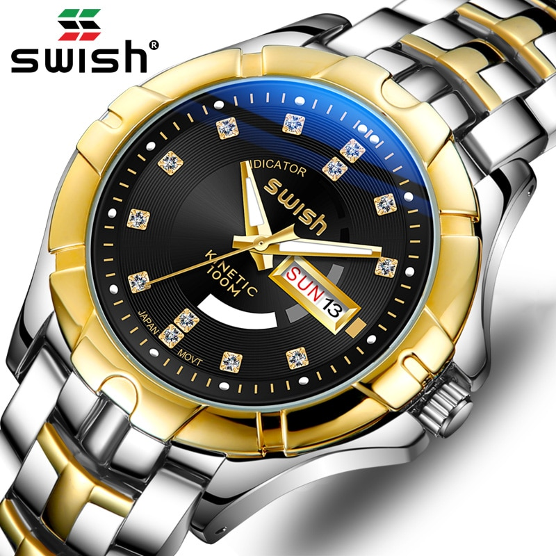 Luxury Wrist Watches Men 2020 Top Brand Luxury SWISH Golden Business Watch Waterproof Casual Business Clock Relogio Masculino