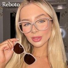 Magnet Clip on Sunglasses Fashion Transparent Glasses Woman 2021 New Luxury Brand Anti Blue Light Gl