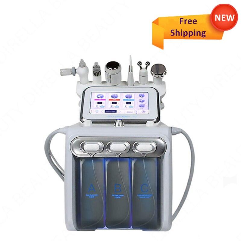 6 In 1 Hydro oxygen Dermabrasion Machine Deep Cleansing Water Jet Dead Skin Removal machine