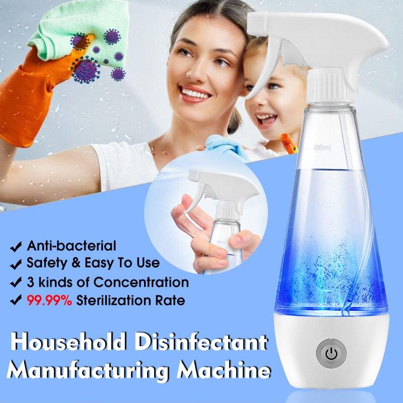 Бытовой портативный 300 мл Дезинфекция воды электролитический генератор гипохлорная кислота дезинфекция жидкость делая машину