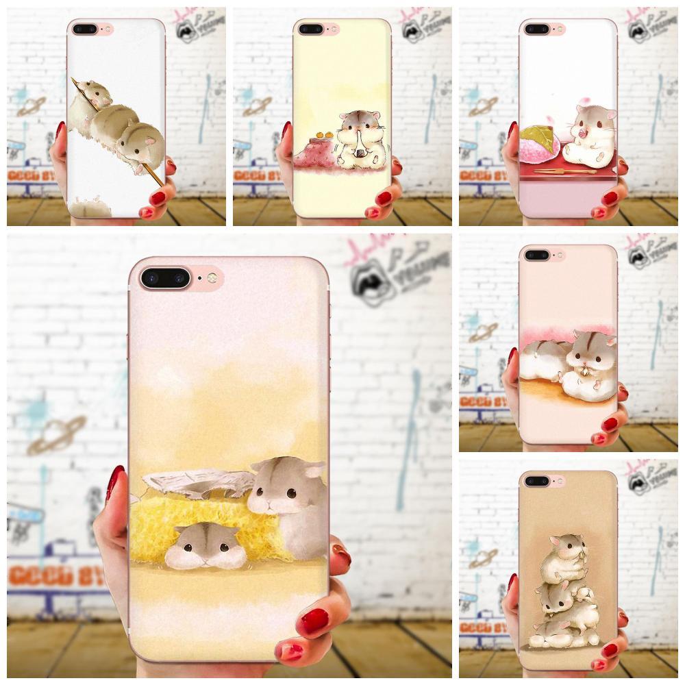 Cute Little Hamster For Motorola Moto G G2 G3 G4 G5 G6 G7 Plus For Xiaomi Redmi Note 8 8A 8T 10 K30 5G Phone Soft Shell