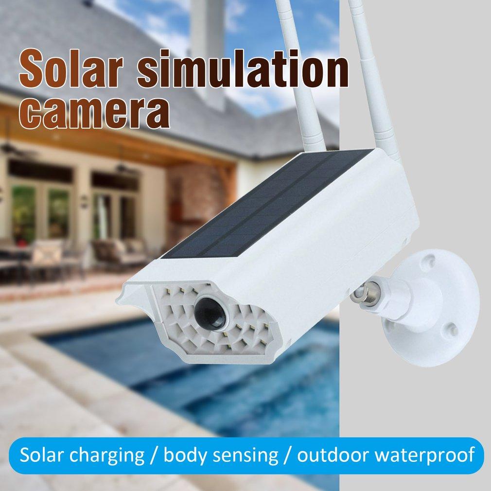 Solar LED Light Dummy Security Camera IP65 Waterproof PIR Motion Sensor Outdoor CCTV Fake Surveillance Simulation Camera New2020 enlarge