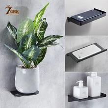 ZGRK accessoires de salle de bain en acier inoxydable support pour téléphone support de bain moderne salle de bain ornement étagères cuisine étagère murale