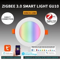 tuya zigbee 3 0 led downlight wifi smart app dimming round spot light 7w 10w rgb light voice control work with alexa google home