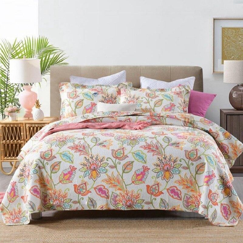 طباعة المفارش لحاف من القطن مجموعة 3 قطعة غطاء السرير مع المخدة الملكة حجم بطانية الصيف