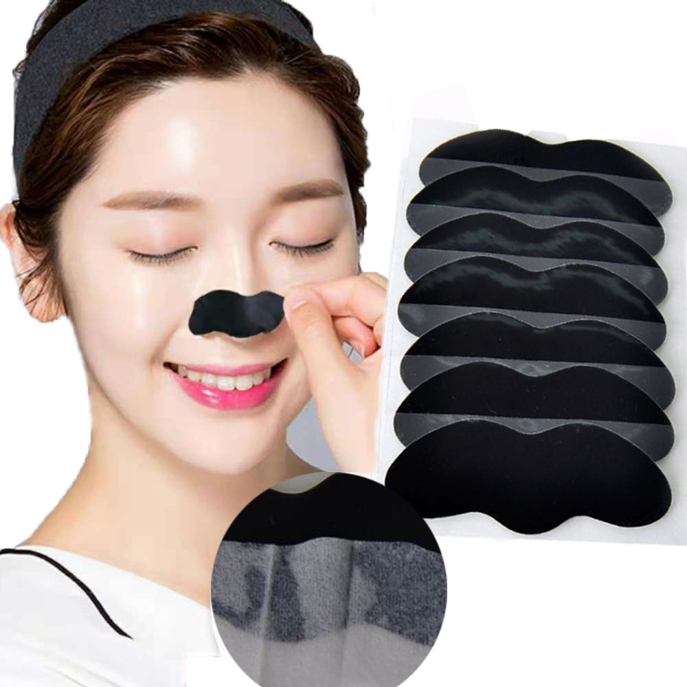 10/50/100PCS Bamboo Charcoal Blackhead Remover Nose Mask Strips for Nose Cleansing Nose Sticker Deep