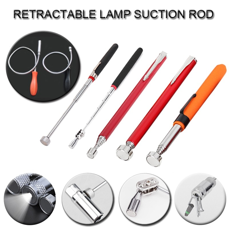 Telescopic Adjustable Magnetic Pick-Up Tools Grip Extendable Long Reach Pen Handy Tool for Picking Up Nuts недорого