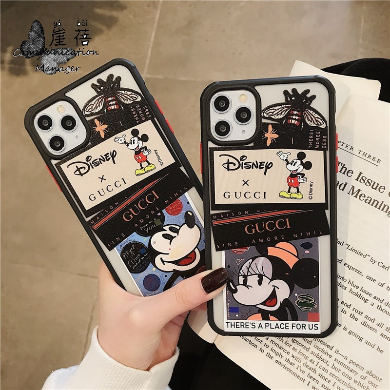2021Disney protective cover is suitable for iPhone7/8/X/XS/XR/xsmax/11/pro/promax Mickey couple mobile phone case  - buy with discount