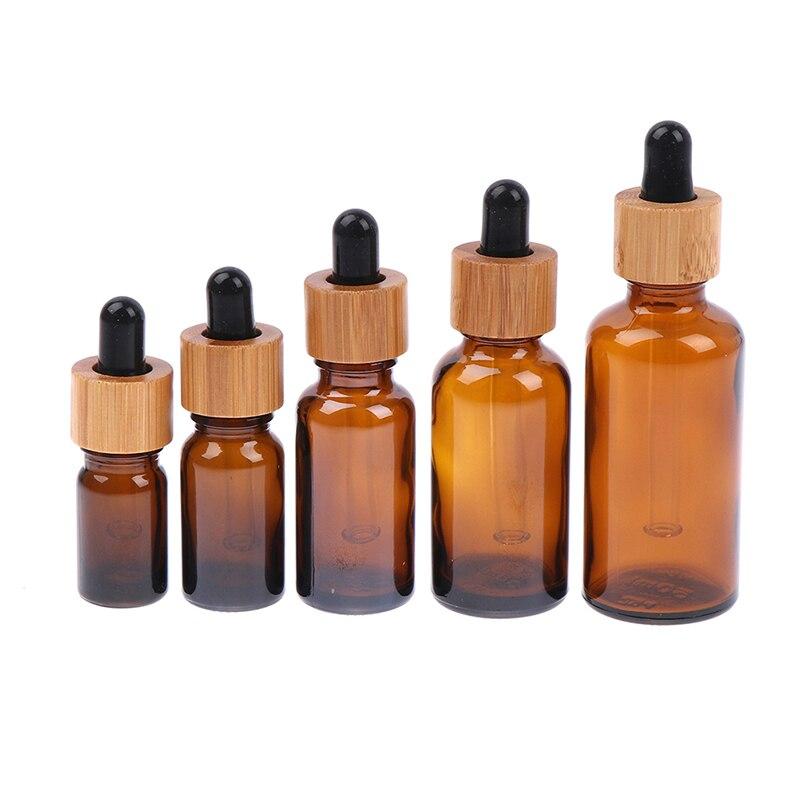 5/10/20/30/50ml Portable Reusable Sample Travel Dropper Sub-bottles For Essential Oil Glass Tube Empty Bottle New