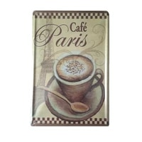 vintage retro wall decor tin signsparis cafe coffee decorative metal sign for homepubcafe