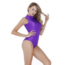 Женский купальник без рукавов Speerise, Фиолетовый спандекс, нейлон, гимнастика, белый, для йоги, балета, трико для взрослых
