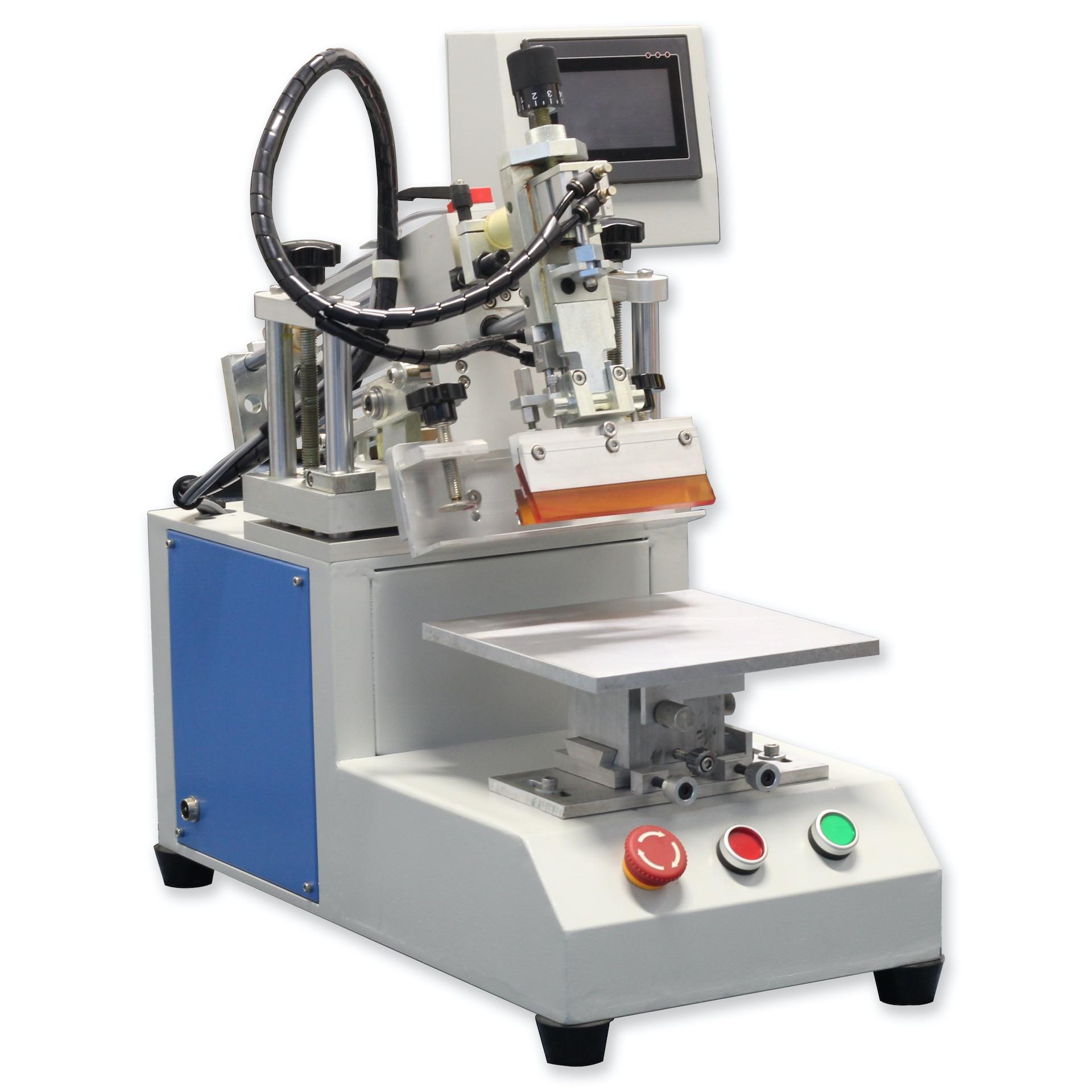 هزاز سطح المكتب المحمول نصف أوتوماتيكي 10 × 10 سنتيمتر ، آلة طباعة الشاشة ، لتزيين لوحة السيارة