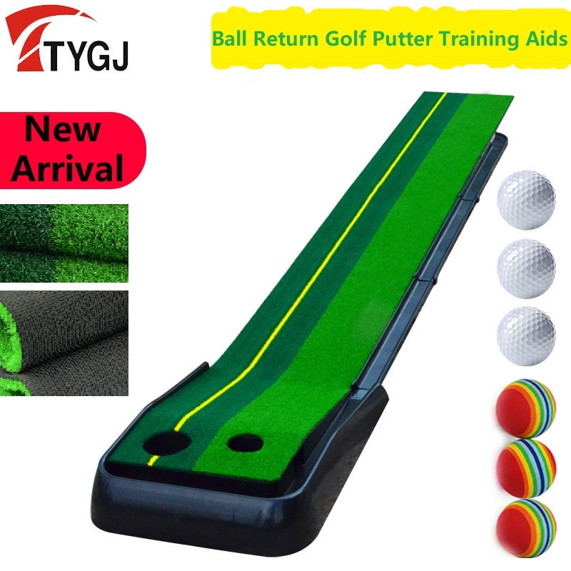 Portátil Golf verde Putter de entrenamiento de retorno de bola 2,5 M/3M Golf poniendo interior pista de prácticas de Golf entrenamiento para principiantes