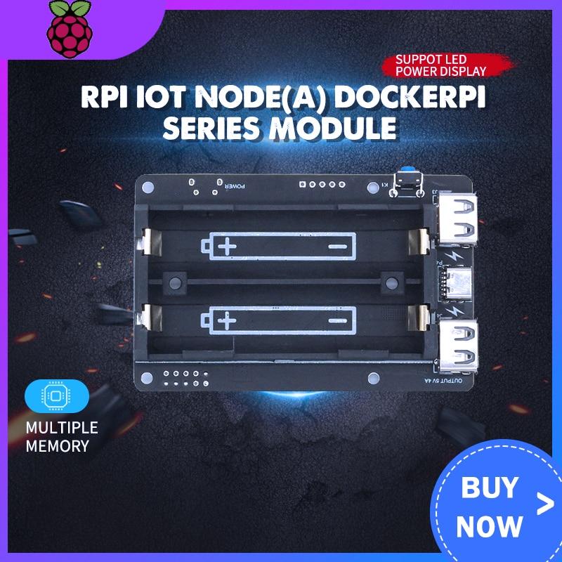 RPI-درع بطارية الليثيوم 18650 ، وحدة توسيع الطاقة المحمولة ، 5 فولت ، USB صغير لـ Arduino ESP32 ESP8266