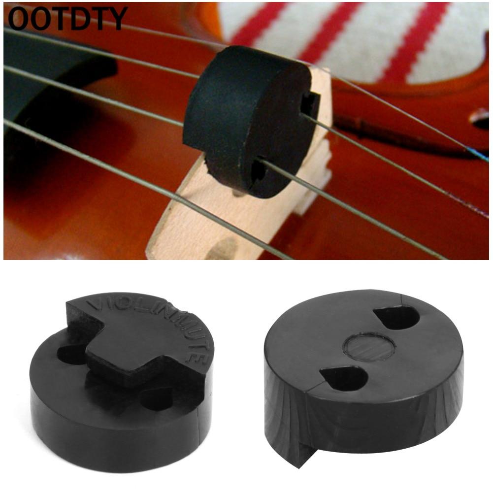 Silenciador de Violín de goma OOTDTY, 1 pieza, silenciador del violín acústico, herramientas negras para violín