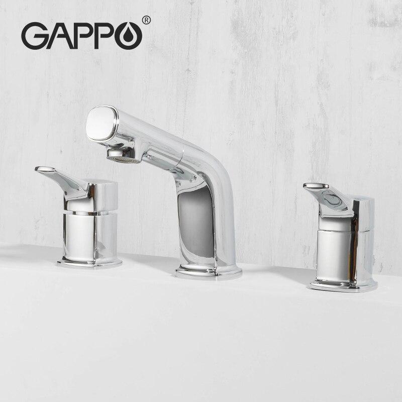 Gappo النحاس حوض الاستحمام الحنفيات سحب صنبور الحمام شلال الحمام دش صنبور الساخن الباردة خلاط روبينيت Baignoire