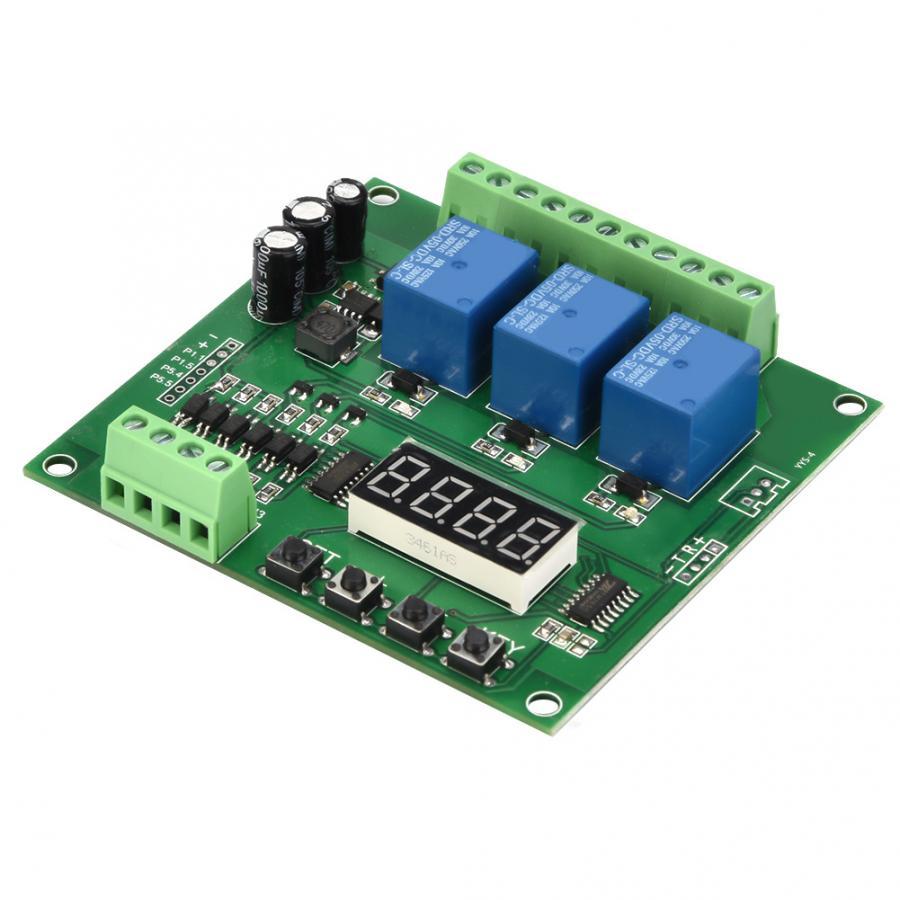 Relé de tempo YYS-4 módulo de controle de relé programável de 3 canais atraso de disparo/temporizador/auto-travamento/interruptor de bloqueio