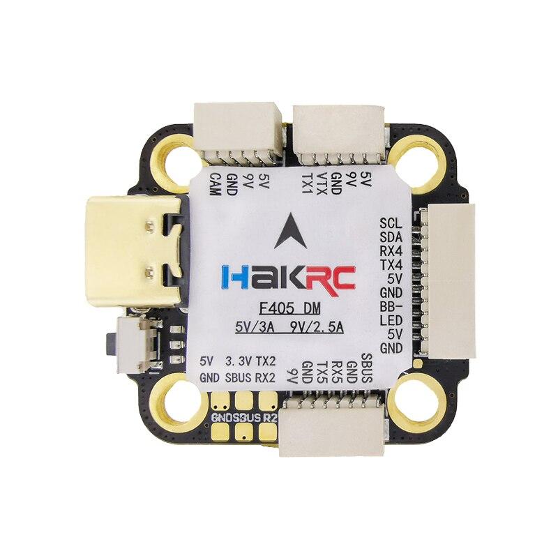 HAKRC وحدة تحكم في الطيران F405 MINI 3-6S بارومتر جيروسكوب المزدوج بيك 5 فولت/3A 9 فولت/2.5A ل DJI FPV سباق الطائرة بدون طيار نقل الفيديو