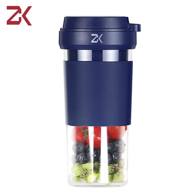 ZK المحمولة خلاط كهربائي ماكينة صنع العصير USB خلاط خلاط عصائر صغيرة منتج أغذية خلاط شخصي كوب عصير الخلاطات