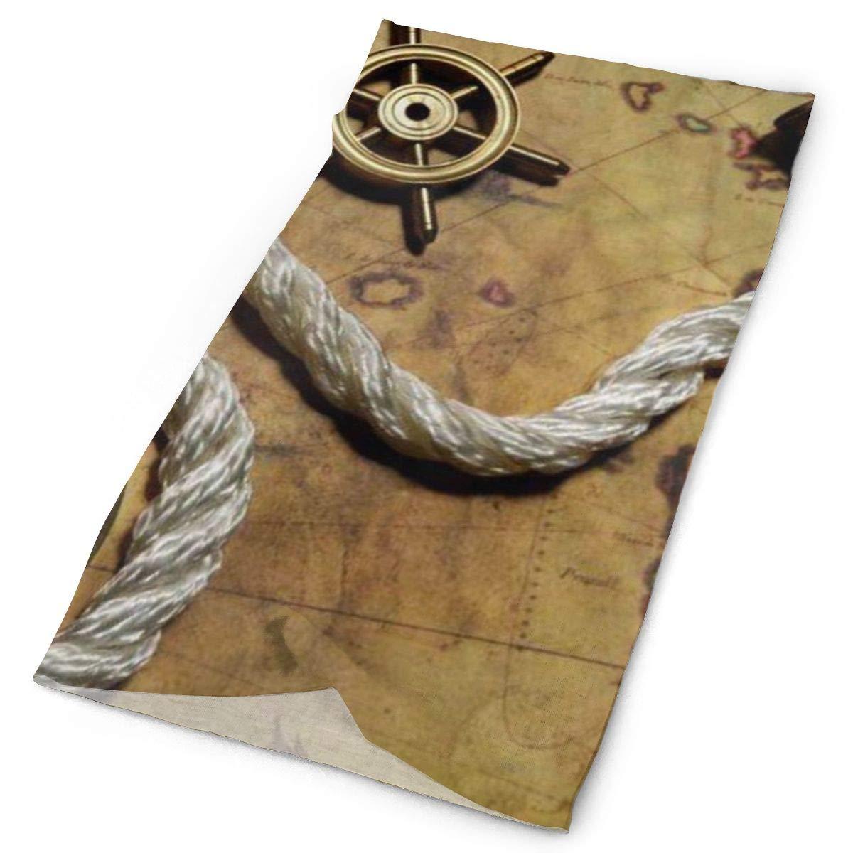 Bufanda mágica Techdecorhomee, tocado de pirata del océano, mapa náutico, diademas de brújula, Bandana, gorro, bufanda, máscara de tubo, envoltura para el cuello