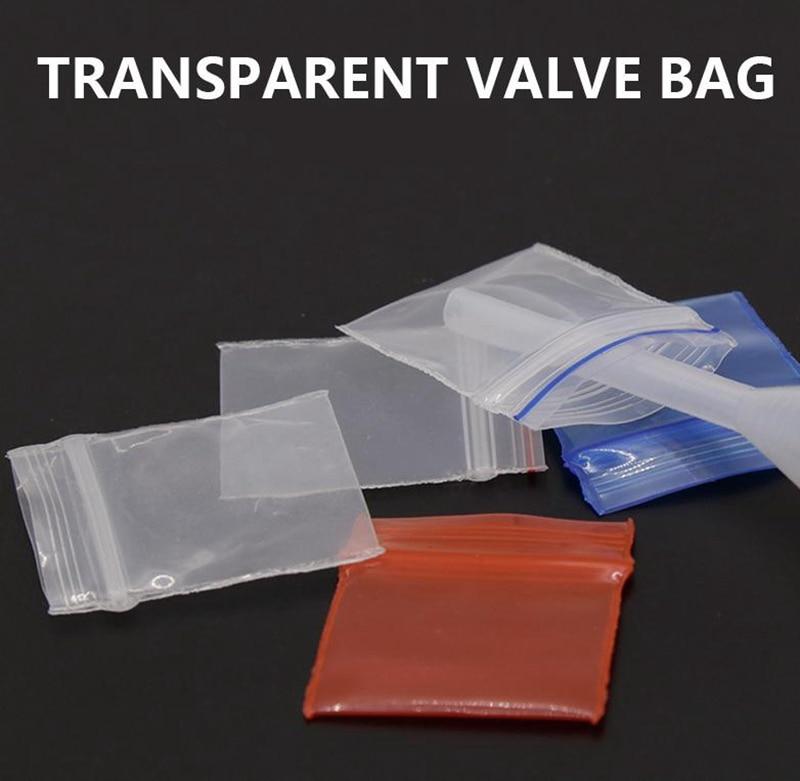 100 piezas de tabaco bolsa de almacenamiento sellado bolsa transparente portátil sostenedor de cigarrillo Accesorios