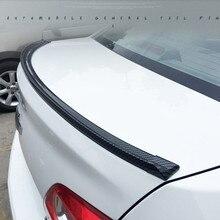 Universal 1.5 Meters Rubber Carbon Fiber Auto Car Rear Spoiler Trunk lip Wing Car Boky kit Trim for BMW Audi Infinit Q50 Q60 G37