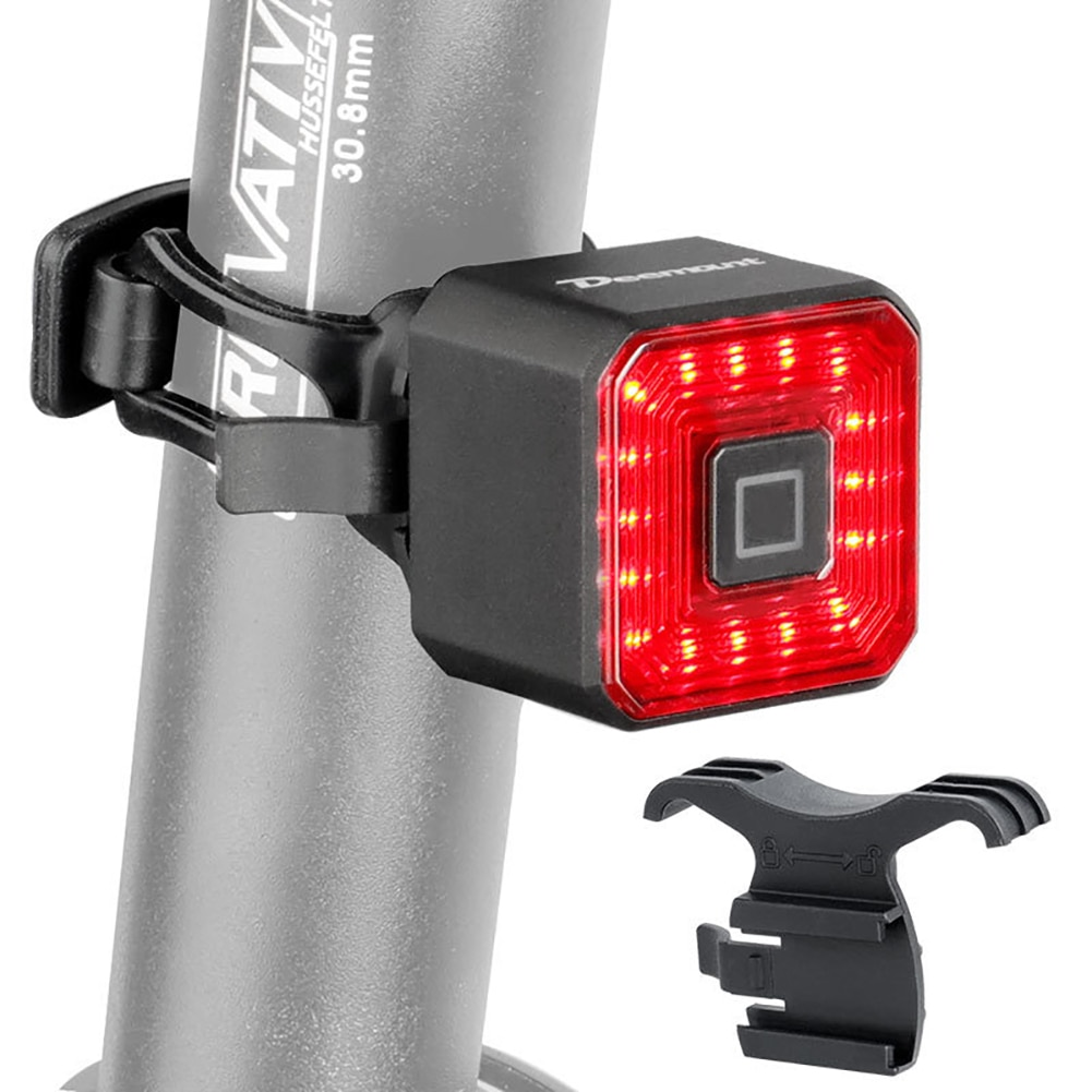 New Smart Tail Rear Light Brake USB Cycling Taillight Bike Lamp Auto Stop LED Back Rechargeable Signal For Bicycle Lanterna
