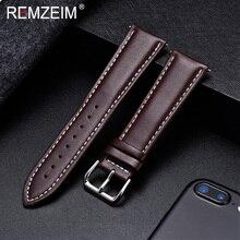 REMZEIM Watch Band Genuine Leather straps Watchbands 18mm 20mm 22mm 24mm Watch Accessories Women Men