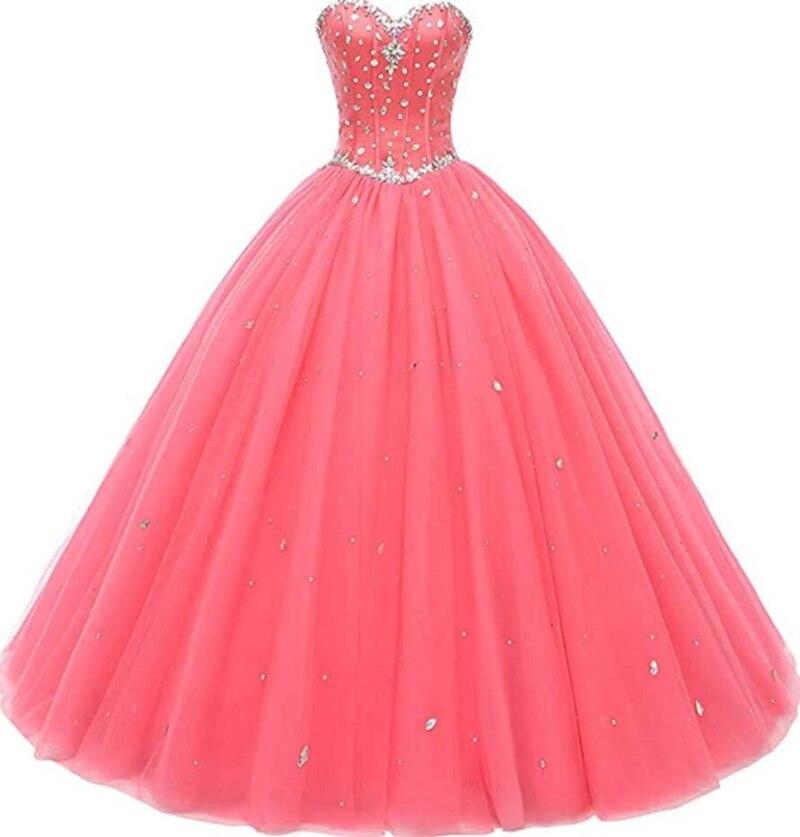 Милое платье для выпускного бала платья без бретелек простые тюлевые Выпускные платья с блестками платья принцессы платья для Quinceanera