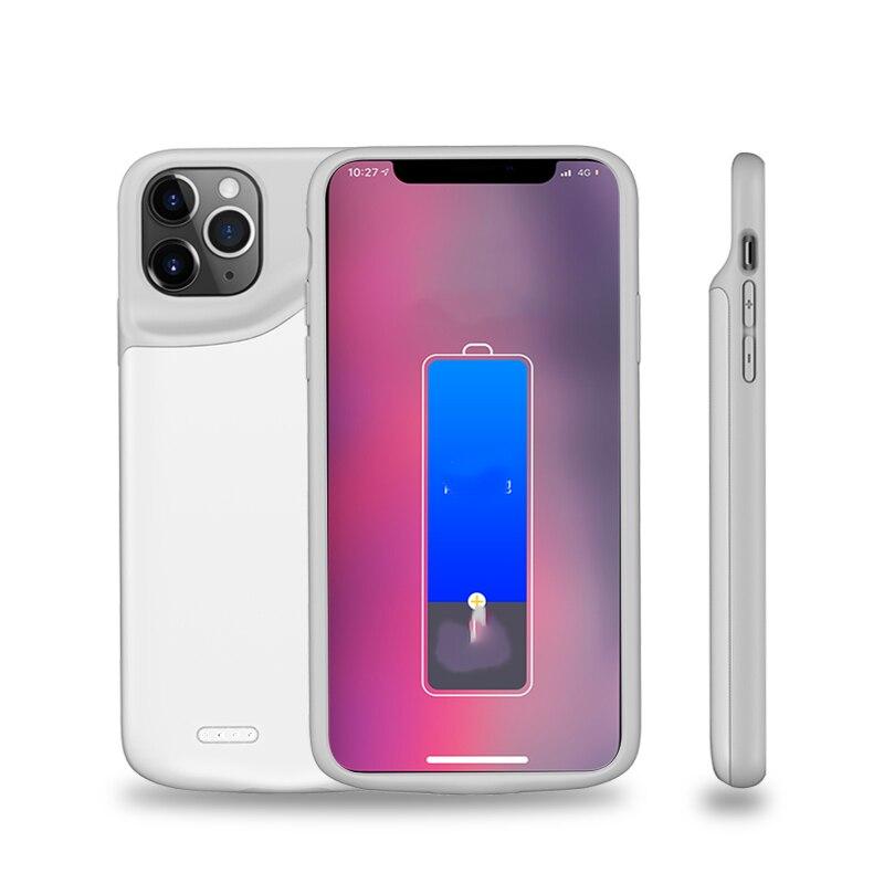 Тонкий жидкий Силиконовый противоударный чехол для батареи для iPhone 11 Pro Max power Bank чехол с зажимом для задней крышки зарядного устройства