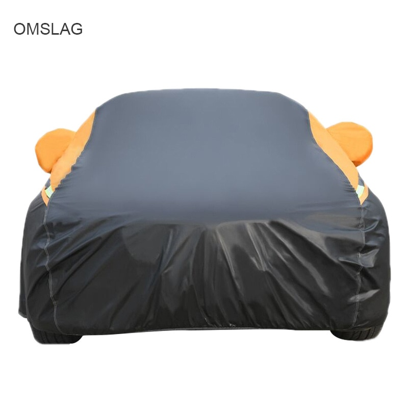 OMSLAG Outdoor Car Covers Roof Top Tent For Car Waterproof Sun Rain Snow protective with Reflective Strip SUV/Sedan/ hatchback