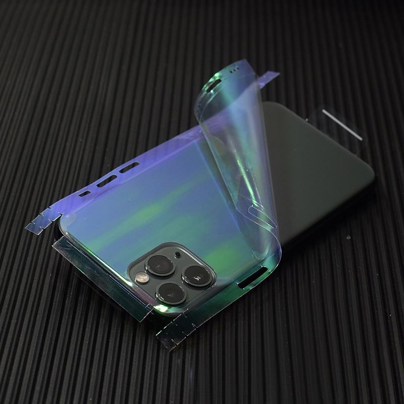 Transparent 3D Carbon Fiber Skins Film Wrap Skin Phone Back Sticker For iPhone 11 Pro XS MAX XR X 8 7 6 6S Plus Clear Sticker