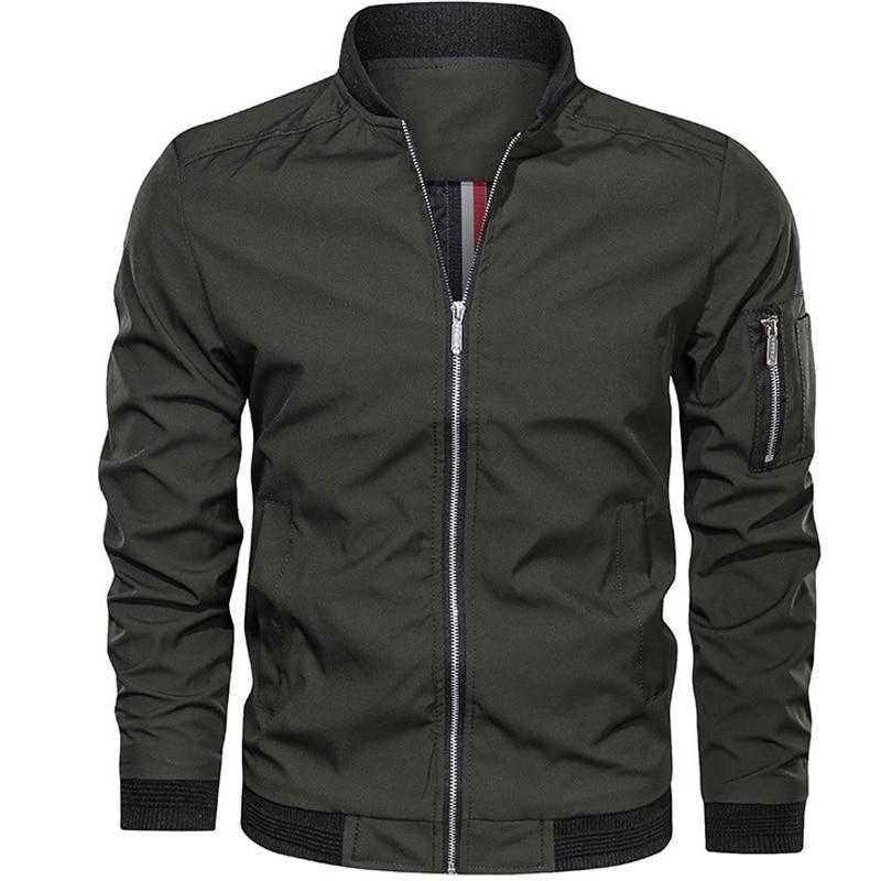 Куртка-бомбер мужская, Повседневная Уличная одежда, куртка-бомбер в простом британском стиле