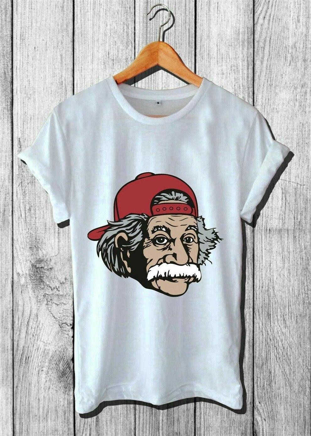 Top caliente Einsten Hipster estilo Streetwear hombres Casual Wear Usa Size camiseta En1 camiseta de figura completa