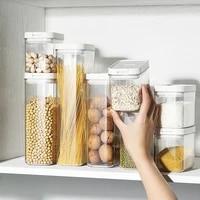 18001300800500ml food storage tank plastic kitchen storage jar box refrigerator noodle multigrain storage plastic container