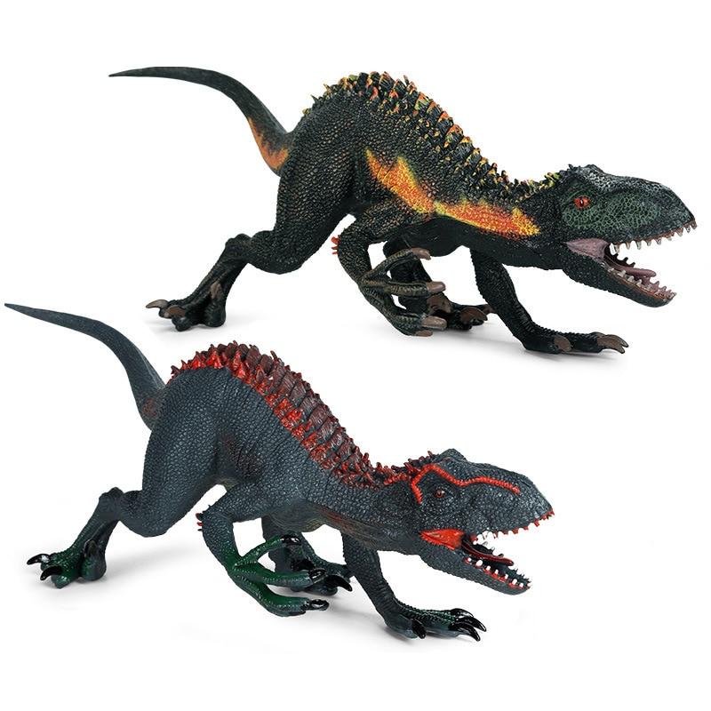 jurassic dinosaur model simulation brachiosaurus pvc plastic toy model educational toy hand painted toys for children gift New Simulation Jurassic Dinosaur Model Tyrannosaurus Velociraptor PVC Action Figure Collection Educational Child Toy Gift