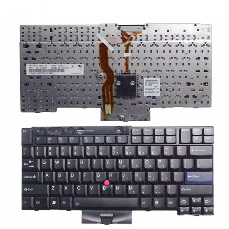 الأصلي 95% جديد الإنجليزية لوحة المفاتيح لينوفو Tinkpad T410 T420 X220 T510 T510i T520 T520i W510 W520 T400S T410i T420i X220i T410