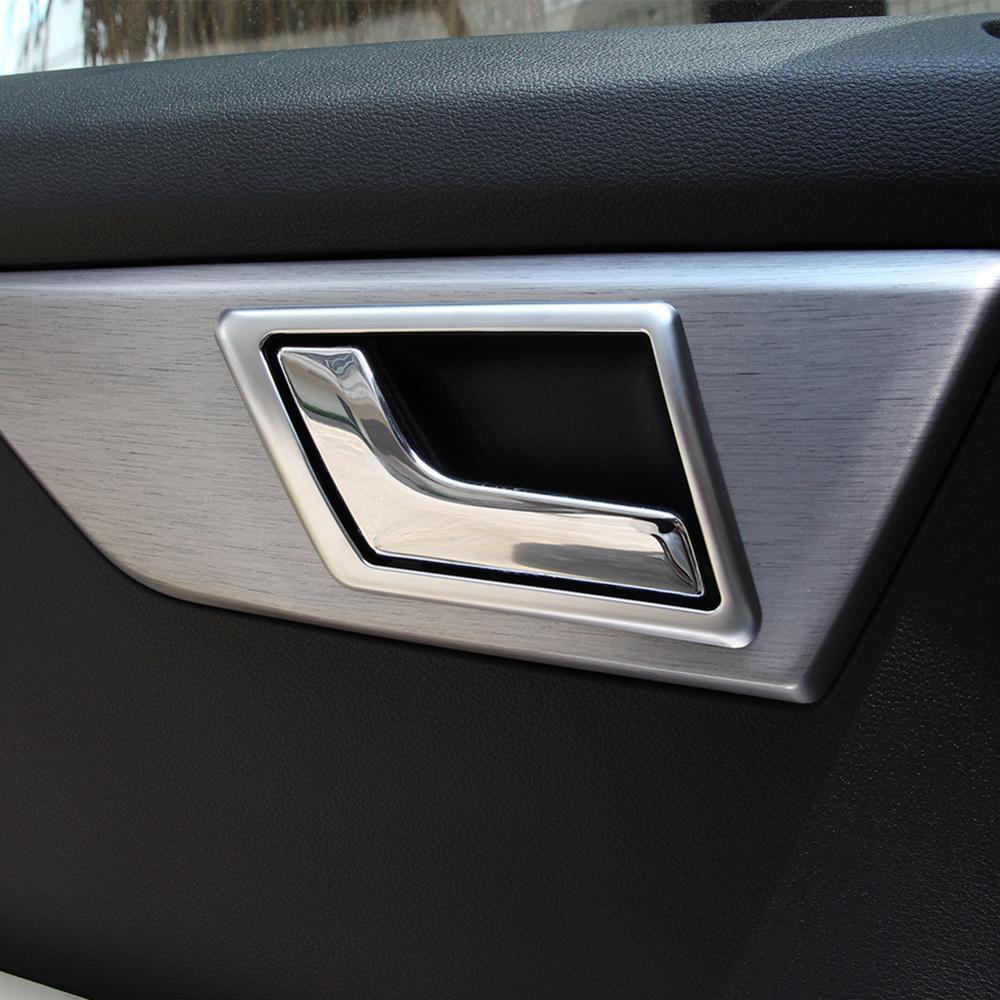 4 Uds cromo ABS puerta Interior de plástico decoración embellecedor de marco para Mercedes Benz GLK X204 GLK200 260, 2009-2015 modelos de accesorios