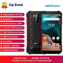 Ulefone Power X5 IP68/IP69K Прочный Android 10,0 ударопрочный смартфон 5000 мАч Octa Core 5,5 OTG NFC, 3 Гб оперативной памяти, 32 Гб встроенной памяти, 4 аппарат не привязан к оператору сотовой связи для мобильного телефона