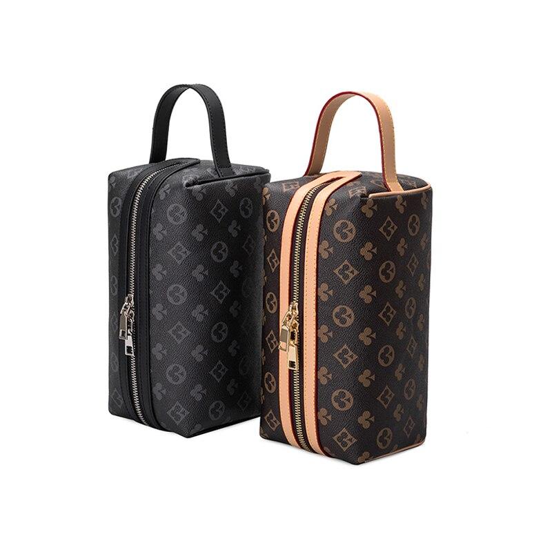 الأوروبية والأمريكية الموضة الطباعة المرأة حقيبة حقيبة مستحضرات التجميل المحمولة سعة كبيرة حقيبة تويلت السفر التجميل حقيبة التخزين