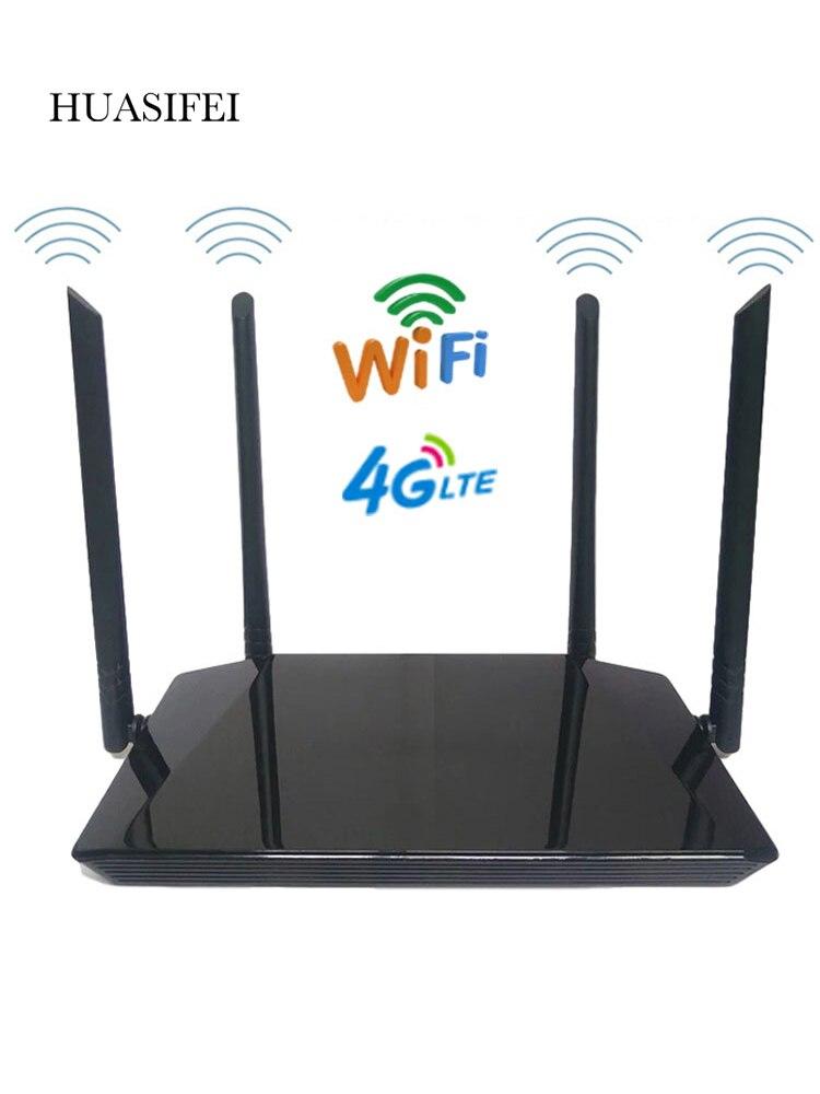 Недорогой беспроводной роутер с SIM-картой, 300 Мбит/с, 4G, LTE, Wi-Fi роутер, Wi-Fi роутер, SIM-карта с 4 внешними антеннами