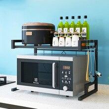 Casa forno de microondas rack cozinha prateleira organizador aço inoxidável rack armazenamento da cozinha sobre o forno prateleira cozinha ferramenta organizador