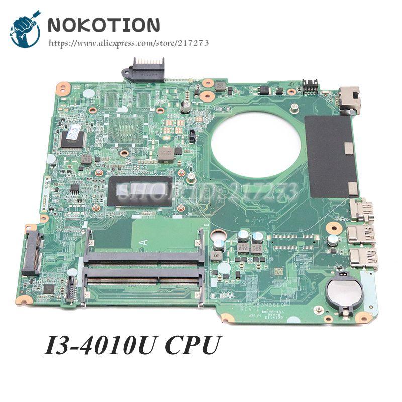 NOKOTION DA0U83MB6E0 782103-501, 782103-001 para HP Pavilion 15-N 15-F 15-F010DX placa base de computadora portátil I3-4010U CPU DDR3